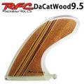 [follows特別価格] Rainbow Fin レインボーフィン Da Cat WOOD 9.5 [293] ロングボード センターフィン シングル フィン 1点物の木目シリーズ