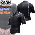 2020-2021 rash ウェットスーツ ラッシュ ウエットスーツ フロントジップ S/Sジャケット BLKスキン 2mm メンズ  数量限定モデル LX FRONT ZIP TYPE 半袖タッパー クラシックスタイル 国産高級ウェットスーツ