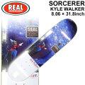 REAL リアル スケートボード デッキ SORCERER KYLE WALKER 8.06×31.8インチ [R-3] スケボー SK8 パーツ SKATE BOARD DECK