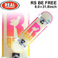 REAL リアル スケートボード コンプリート RS BE FREE [RE-113] 8.0inch スケボー SK8 完成品 SKATE BOARD COMPLETE