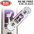 REAL リアル スケートボード コンプリート RS BE FREE [RE-114] 8.25inch スケボー SK8 完成品 SKATE BOARD COMPLETE