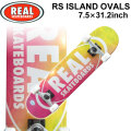 REAL リアル スケートボード コンプリート RS ISLAND OVALS [RE-115] 7.5inch スケボー SK8 完成品 SKATE BOARD COMPLETE