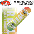 REAL リアル スケートボード コンプリート RS ISLAND OVALS [RE-116] 7.75inch スケボー SK8 完成品 SKATE BOARD COMPLETE