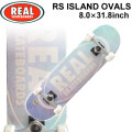 REAL リアル スケートボード コンプリート RS ISLAND OVALS [RE-117] 8.0inch スケボー SK8 完成品 SKATE BOARD COMPLETE