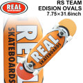 REAL リアル スケートボード コンプリート RS TEAM EDITION OVALS [RE-118] 7.75inch スケボー SK8 完成品 SKATE BOARD COMPLETE
