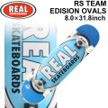 REAL リアル スケートボード コンプリート RS TEAM EDITION OVALS [RE-119] 8.0inch スケボー SK8 完成品 SKATE BOARD COMPLETE