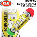 REAL リアル スケートボード コンプリート RS TEAM EDITION OVALS [RE-120] 8.25inch スケボー SK8 完成品 SKATE BOARD COMPLETE