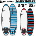 """ソフトボード サーフィン SIC SURF エスアイシー サーフボード DARKHORSE SERIES 5'8"""" ダークホース フィン付 ショートボード SURFBOARDS [条件付き送料無料]"""