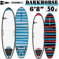 """ソフトボード サーフィン SIC SURF エスアイシー サーフボード DARKHORSE SERIES 6'8"""" ダークホース フィン付 ショートボード SURFBOARDS [条件付き送料無料]"""