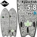"""[ポイントアップ中!!デッキカバー&ワックスプレゼント!!] [送料無料] 2020 SOFTECH ソフテック サーフボード KYUSS FISH [5'8""""] カイアス フィッシュ ショートボード ソフトボード FCS2 ソフトフィン TRI 3フィン"""