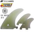 TRUE AMES トゥルーアームス フィン チャンネルアイランド CI ミッド 2+1 ChannelIslands CI Mid Center + SideBite Model