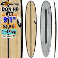 torq surfboard トルク サーフボード ACT DON HP 9'1 [Black Rail Bamboo] ドン ハイパフォーマンス ロングボード 1+4 BOX future 5Plug [送料無料]