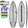 torq surfboard トルク サーフボード ACT GOkart 5'10 [Black Rail] ゴーカート ショートボード future 5Plug [送料無料]