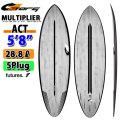torq surfboard トルク サーフボード ACT MULTIPLIER 5'8 [Black Rail] マルチプライヤ ショートボード future 5Plug [送料無料]
