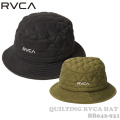 2021 RVCA ルーカ 帽子 BB042-931 QUILTING RVCA HAT ハット