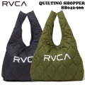 2021 RVCA ショッパーバッグ BB042-966 QUILTING SHOPPER ルーカ エコバッグ