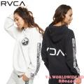 RVCA レディース パーカーBB044-028 VA WORLDWIDE HD ルーカ スウェット フードトレーナー