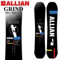 21-22 ALLIAN アライアン GRIND グラインド [ 151cm 153cm 155cm ] グラトリ ジブ スノーボード 板 2021 2022 送料無料