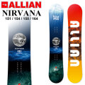 21-22 ALLIAN アライアン NIRVANA ニルバーナ [ 151cm 154cm 158cm 164cm ] フリースタイル スノーボード 板 2021 2022 送料無料