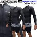 AIDENTIFY アイデンティファイ タッパー L/Sジャケット ウェットスーツ 1ミリ FRONT ZIP フロントジップ メンズ [Original Jacket] クラシック メッシュスキン 国内生産 日本正規品