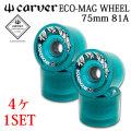 carver カーバー サーフスケート ウィール ECO MAG WHEEL 75mm エコ マグ ウィール [4個1SET] 1台分 スケートボード