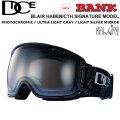 NEW 21-22 DICE ゴーグル ダイス BANK バンク BLAIR HABENICHT シグネチャーモデル BK14570 [PHOTOCHROMIC /ULTRA LIGHT GRAY / LIGHT SILVER MIRROR] 調光レンズ JAPANFIT スノーボード