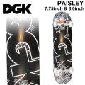 DGK デッキ ディージーケー スケートボード コンプリート PAYSLEY [D-123] [D-124] 7.75 inch 8.0inch 完成品 スケボー SKATE BOARD COMPLETE