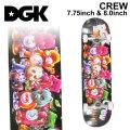 DGK ディージーケー スケートボード コンプリート CREW [D-127] [D-128] 7.75 inch 8.0inch 完成品 スケボー SKATE BOARD COMPLETE