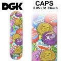 DGK ディージーケー スケートデッキ CAPS [8.05×31.53インチ] [D-15] スケートボード パーツ スケボー SK8 SKATEBOARD DECK