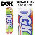 DGK ディージーケー スケートデッキ SUGAR RUSH [8.06×31.73インチ] [D-9] スケートボード パーツ スケボー SK8 SKATEBOARD DECK