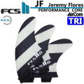 ショートボード用フィン FCS2 FIN エフシーエス2 JF (Jeremy Flores) TRI PC AirCore [Large] ジェレミフローレス パフォ-マンスコア エアコア 3フィン トライフィン