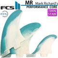 [店内ポイント最大20倍!!] FCS2 フィン エフシーエスツー Mark Richards MR PC 2+1 TRI マークリチャーズ パフォ-マンスコア ツインスタビライザー [DUSTY BLUE] [XLサイズ] 3FIN ショートボード用 サーフボードフィン
