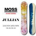 21-22 MOSS SNOWBOARD モス スノーボード JULLIAN ジュリアン 136cm 142cm 146cm 150cm オールラウンド レディース ジュニア ユース オガサカ製 スノボ 板 送料無料