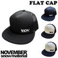 NOVEMBER ノベンバー FLAT CAP フラットキャップ メッシュ 帽子 スノーボード