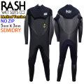 21-22 RASH ラッシュ ウェットスーツ セミドライ フルスーツ 5x3mm メンズ ウエットスーツ 数量限定モデル MT NO ZIP ノンジップ DRK 全身裏起毛 ベルクロ仕様 国産高級ウェットスーツ