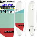 """SIC SURF エスアイシー サーフボード DRIFTER SERIES 7'4"""" ドリフター ACE TEC フィン付 FCS FIN対応 ファンボード SURFBOARDS [条件付き送料無料]"""