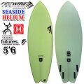 10本限定モデル FIREWIRE SURFBOARDS ファイヤーワイヤー サーフボード SEASIDE COLOR 5'6''x21'1/4''x2'1/2''【32.7L】GREEN シーサイド カラー HELIUM Rob Machado ロブ・マチャド [条件付き送料無料]