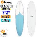 TORQ SurfBoard トルク サーフボード CLASSIC DESIGN [VORTEX PATTERN] MOD FUN 7'2 ファンボード エポキシボード EPS [営業所止め送料無料]
