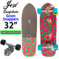 YOW SURFSKATE ヤウ サーフスケート Grom Snappers 32インチ [YOW SYSTEM V4S4] グロムシリーズ ロングスケートボード コンプリート サーフィン スケボー トレーニング キッズ レディース 練習 [33]