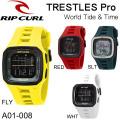 【代引き手数料無料】Rip Curl  リップカール  腕時計 TRESTLES Pro World Tide&Times トレッセル ワールドタイム&タイド サーフウォッチ 防水腕時計 [A01-008]