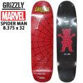 【在庫1本限り特別価格】 スケートボード クルーザー デッキ GRIZZLY MARVEL グリズリー x マーベル コラボモデル SPIDERMAN スパイダーマン クルージング