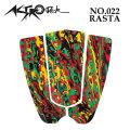 [follow's特別価格] [送料無料] ASTRODECK アストロデッキ デッキパッド NO.022 RASTA ラスタ ショートボード用 3ピース