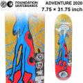 FOUNDATION ファンデーション スケートボード デッキ [FD-2] ADVENTURE 2020 (7.75 × 31.75)  スケボー SKATE BOARD DECK