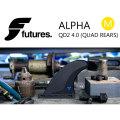 FUTURE FINS フューチャーフィン ALPHA QD2 4.0 (M) QUAD REAR クアッドリアフィン 2FIN
