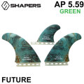 SHAPERS FIN シェイパーズフィン ASHER PACEY AP 5.59 GREEN 2+1 FUTURE TWIN FIN フィン