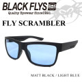2018 BLACK FLYS ブラックフライ サングラス メンズ FLY SCRAMBLER フライ スクランブラー [MATT BLACK /L.BLUE] [BF-1039-04]