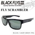 2018 BLACK FLYS ブラックフライ サングラス メンズ FLY SCRAMBLER [BLACK/L.G15 GREEN POL] [BF-1196-05] 偏光レンズ