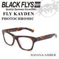 2018 BLACK FLYS ブラックフライ サングラス FLY KAYDEN フライ ケイデン 調光レンズ [HAVANA AMBER PHOTO] [BF-1402-02]