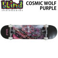 BLIND ブラインド スケートボード コンプリート COSMIC WOLF PURPLE (7.625) [A-3] 完成品スケボー SKATE