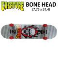 CREATURE クリーチャー スケートボード コンプリート BONE HEAD (7.75 x 31.4) [H-5] 完成品スケボー SKATE